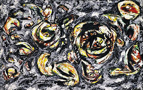 Jackson Pollock, Ocean Greyness, 1953, Oil on canvas